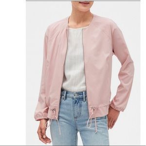 Banana Republic soft pink bomber Medium